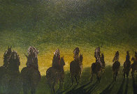 North American Indians in the Process of Vanishing 1971 19x28 Original Painting by Earl Biss - 5