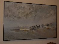 Time to Turn 1985 55x87 Super Huge Original Painting by Earl Biss - 3