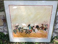 Buffalo Hunt 1980 PP  Limited Edition Print by Earl Biss - 2