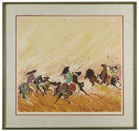 Buffalo Hunt 1980 Presentation Proof Limited Edition Print by Earl Biss - 1