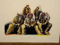 Old Chiefs Posing 1986 Limited Edition Print by Earl Biss - 3