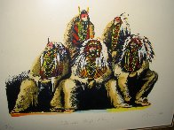 Old Chiefs Posing 1986 Limited Edition Print by Earl Biss - 4