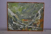 Aleutian Sunrise 1981 (Early)  14x18 Original Painting by Earl Biss - 1