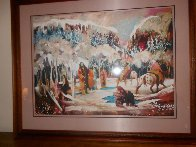 Ice Fisherman Limited Edition Print by Earl Biss - 1
