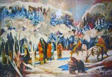 Ice Fisherman Limited Edition Print by Earl Biss