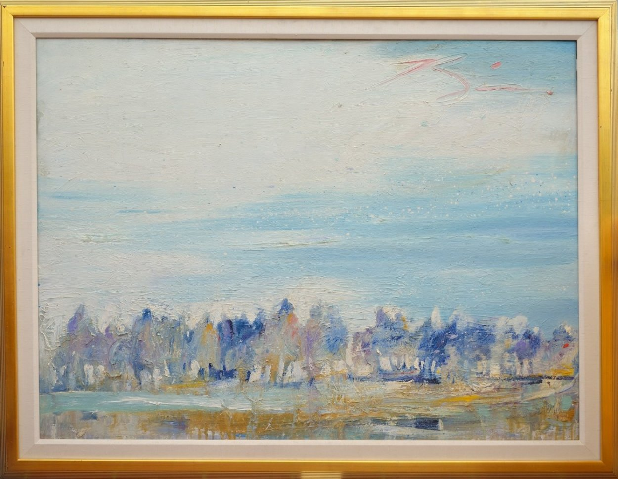 Riders on the Bank 44x56 Original Painting by Earl Biss