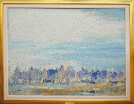 Riders on the Bank 44x56 Original Painting by Earl Biss - 0