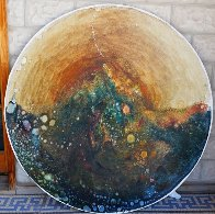 Earth Shield 48 in round Original Painting by Earl Biss - 0
