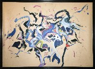 Dream of Wild Horses 1980 64x88 Original Painting by Earl Biss - 2