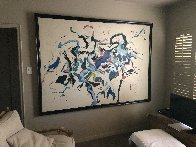 Dream of Wild Horses 1980 64x88 Original Painting by Earl Biss - 1
