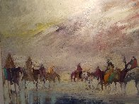 Riders on the Plain 1995 42x30 Original Painting by Earl Biss - 7