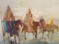Riders on the Plain 1995 42x30 Original Painting by Earl Biss - 9