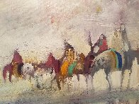 Riders on the Plain 1995 42x30 Original Painting by Earl Biss - 10