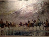 Riders on the Plain 1995 42x30 Original Painting by Earl Biss - 1
