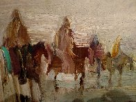 Riders on the Plain 1995 42x30 Original Painting by Earl Biss - 3
