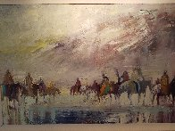 Riders on the Plain 1995 42x30 Original Painting by Earl Biss - 5