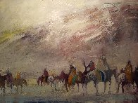 Riders on the Plain 1995 42x30 Original Painting by Earl Biss - 6