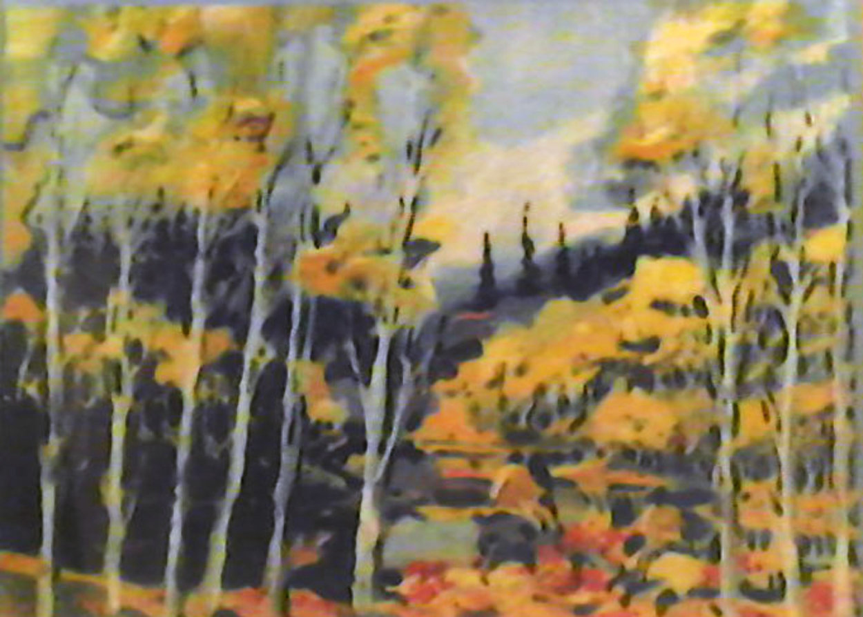 Autumn in the Rockies 1985 Limited Edition Print by Earl Biss