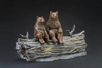 Moonlighters Bronze Sculpture AP 15 in Sculpture by Robert Bissell