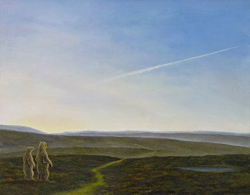 Verdant Path 32x38 Original Painting by Robert Bissell