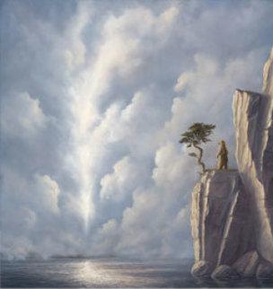 Transfiguration 52x50 Super Huge Original Painting - Robert Bissell