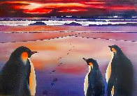 Emperors At the Dawn 1997 32x47 Huge Original Painting by Robert Bissell - 0