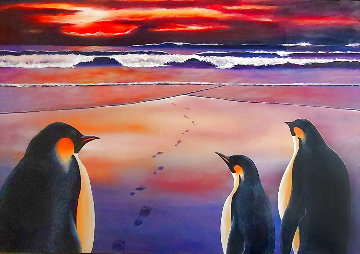Emperors At the Dawn 1997 32x47 Huge Original Painting - Robert Bissell