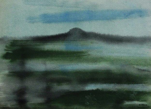 Taos Landscape 27x32 by Emil Bisttram