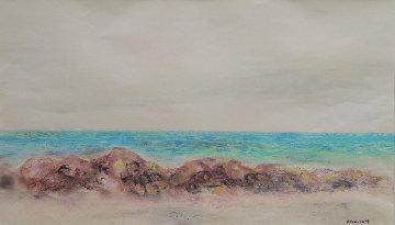 Beach 19x27 Works on Paper (not prints) by Emil Bisttram