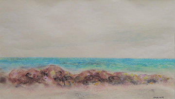 Beach 19x27 Works on Paper (not prints) - Emil Bisttram