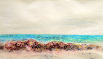Beach 1940 19x27 Works on Paper (not prints) - Emil Bisttram