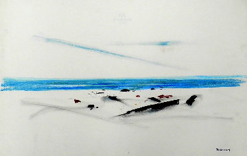 Beach 1940 12x19 Works on Paper (not prints) by Emil Bisttram
