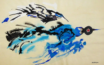 Bird 17x22 Works on Paper (not prints) - Emil Bisttram