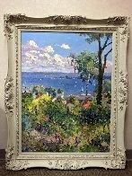 Harbor At Harbor Springs 1992 40x30 Original Painting by Pierre Bittar - 1