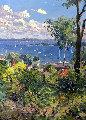 Harbor At Harbor Springs 1992 40x30 Original Painting - Pierre Bittar