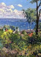 Harbor At Harbor Springs 1992 40x30 Original Painting by Pierre Bittar - 0