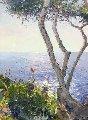 Mediterranean Shore 2002 39x50 Original Painting - Pierre Bittar