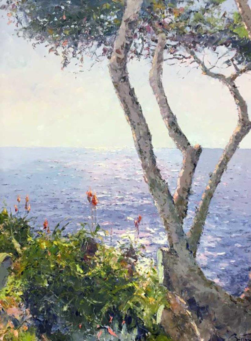 Mediterranean Shore 2002 39x50 Original Painting by Pierre Bittar
