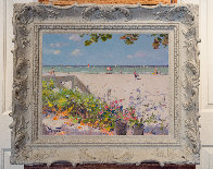 A Naples Beach in Florida 24x28 Original Painting by Pierre Bittar - 3