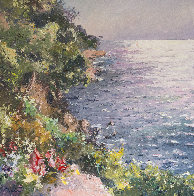 Cliff in the Mediterranean Sea 47x47 Super Huge Original Painting by Pierre Bittar - 2