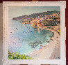 An Overlook of the City of Villefranche 55x55 Original Painting by Pierre Bittar - 1