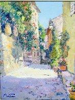 Hauts De Cagnes 28x32 Original Painting by Pierre Bittar - 4