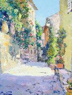Hauts De Cagnes 28x32 Original Painting by Pierre Bittar - 0