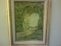 Archway 1957 34x26 (Early) Huge Original Painting by Pierre Bittar - 1