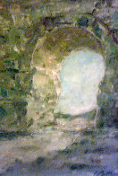 Archway 1957 34x26 (Early) Huge Original Painting by Pierre Bittar - 0