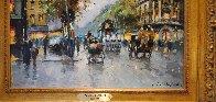 Theatre Du Vaudeville 24x29 Original Painting by Antoine Blanchard - 5