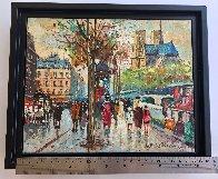 Bouquinistes De Notre-dame 9x11 Paris Original Painting by Antoine Blanchard - 2