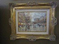 Paris Boulevard De La Madeleine 18x24 Original Painting by Antoine Blanchard - 2