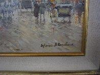 Paris Boulevard De La Madeleine 18x24 Original Painting by Antoine Blanchard - 1
