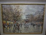 Paris Boulevard De La Madeleine 18x24 Original Painting - Antoine Blanchard